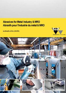 Abrasifs pour l'industrie du métal & MRO