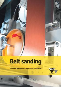 Belt sanding