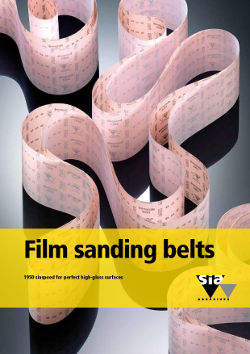 Film sanding belts