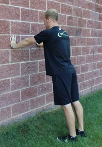 Incline Wall Pushup 1