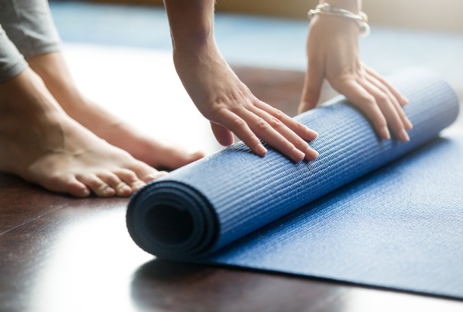 hatha yoga mat