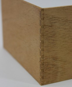 Through dovetails cut as a challenge in a class.