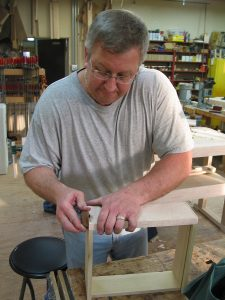 Students in our Woodworking Fundamentals classes use a variety of hand and power tools to create high quality projects.
