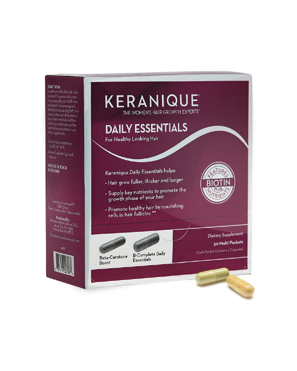 Keranique daily essentials healthy hair growth supplements