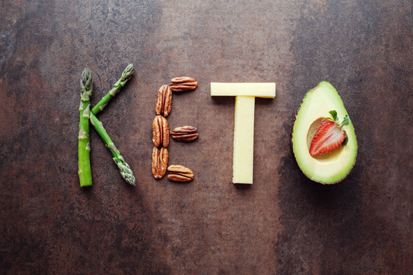 keto-friendly foods that spell out the word keto