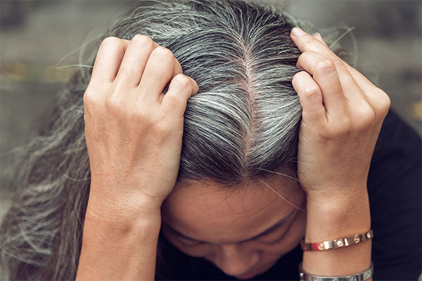 How Stress Causes Thinning And Gray Hair