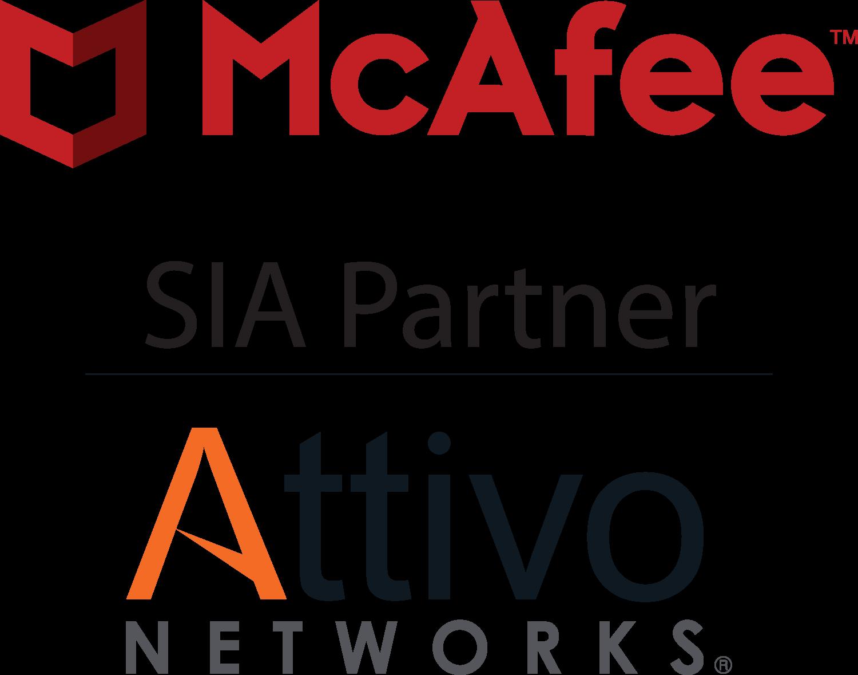 Attivo Networks, SIA Partner of McAfee logo
