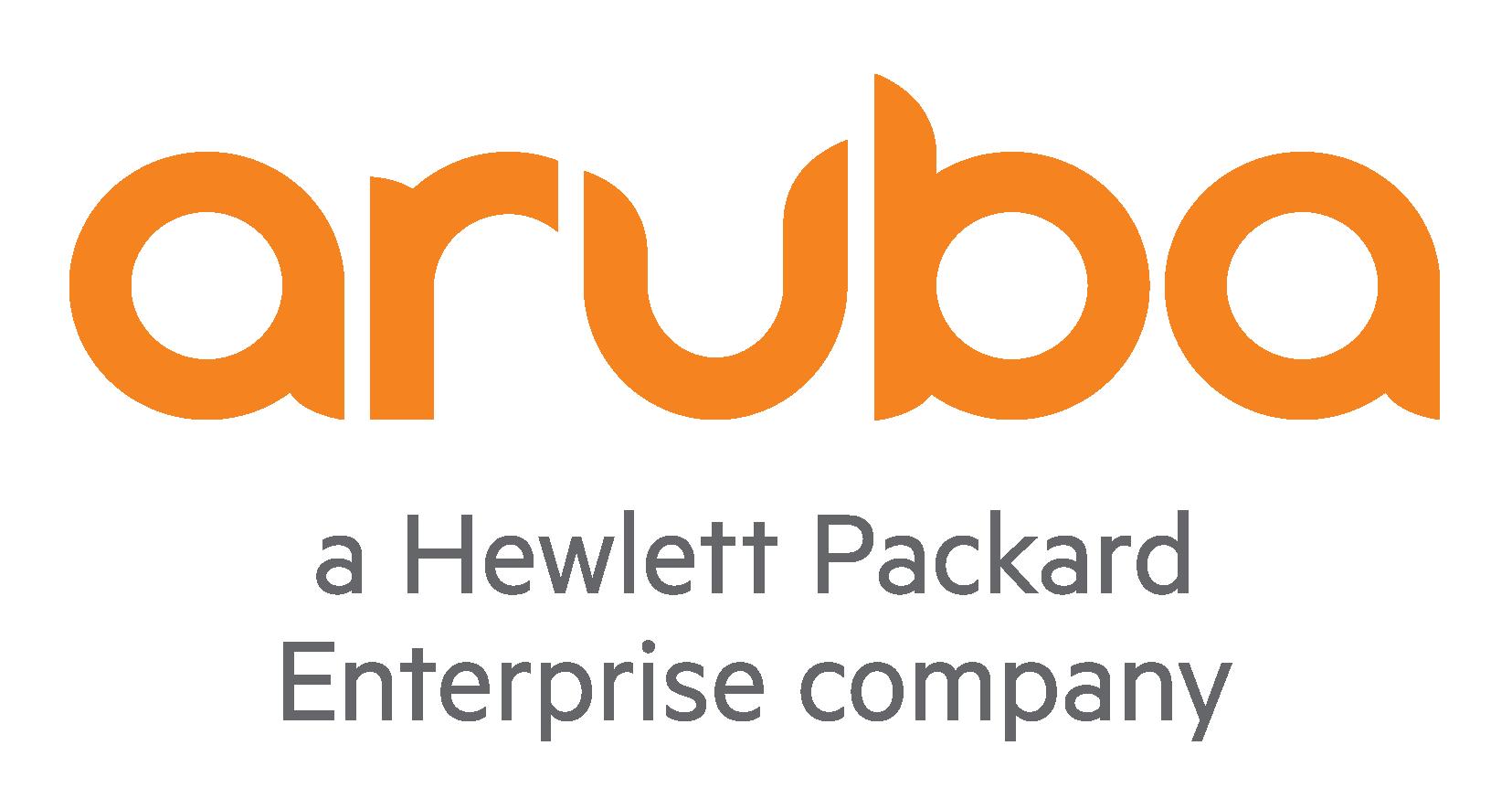 Aruba, a Hewlett Packard Enterprise company logo
