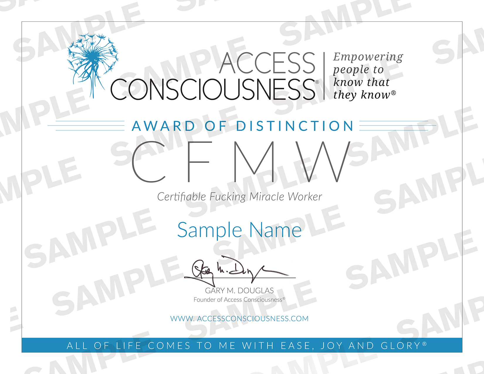 CFMW Certificate