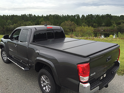 Tri-Fold Hard Tonneau Cover with LED Lights