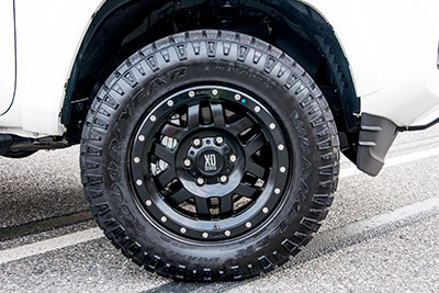 "17"" Black Beadlock Style Wheel w/All-Terrain Tire"