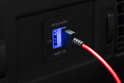 Phone Cable & Charge Package w/Two Rear USB Ports
