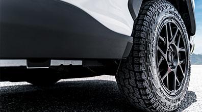 """17"""" KMC Bully Black Wheels with All Terrain Tires"""