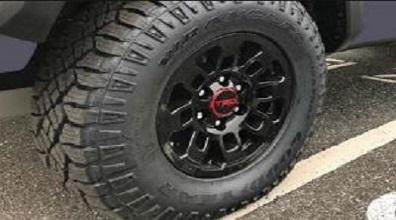 "16"" TRD Pro Alloys with All-Terrain Tire Upgrade"