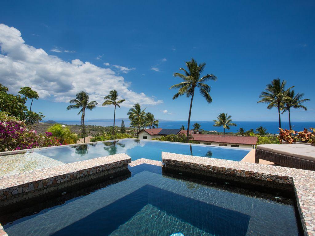 4 Bedroom, 3.5 Bath Panoramic Ocean View Villa With Infinity Pool In Wailea