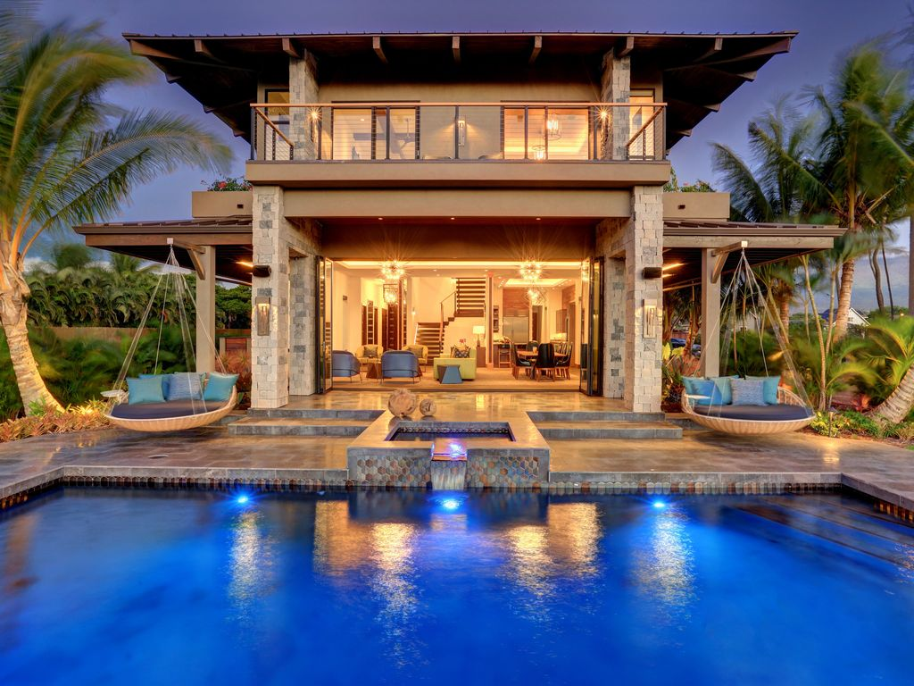 Modern Luxury Oceanview Villa | 5 Bedrooms With Saltwater Pool | South Maui