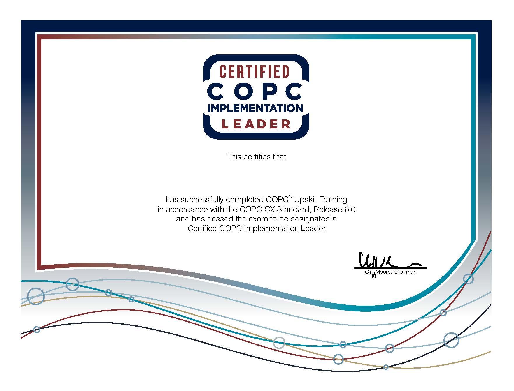 Certified Copc Implementation Leader Upskill Training Jan Pieter