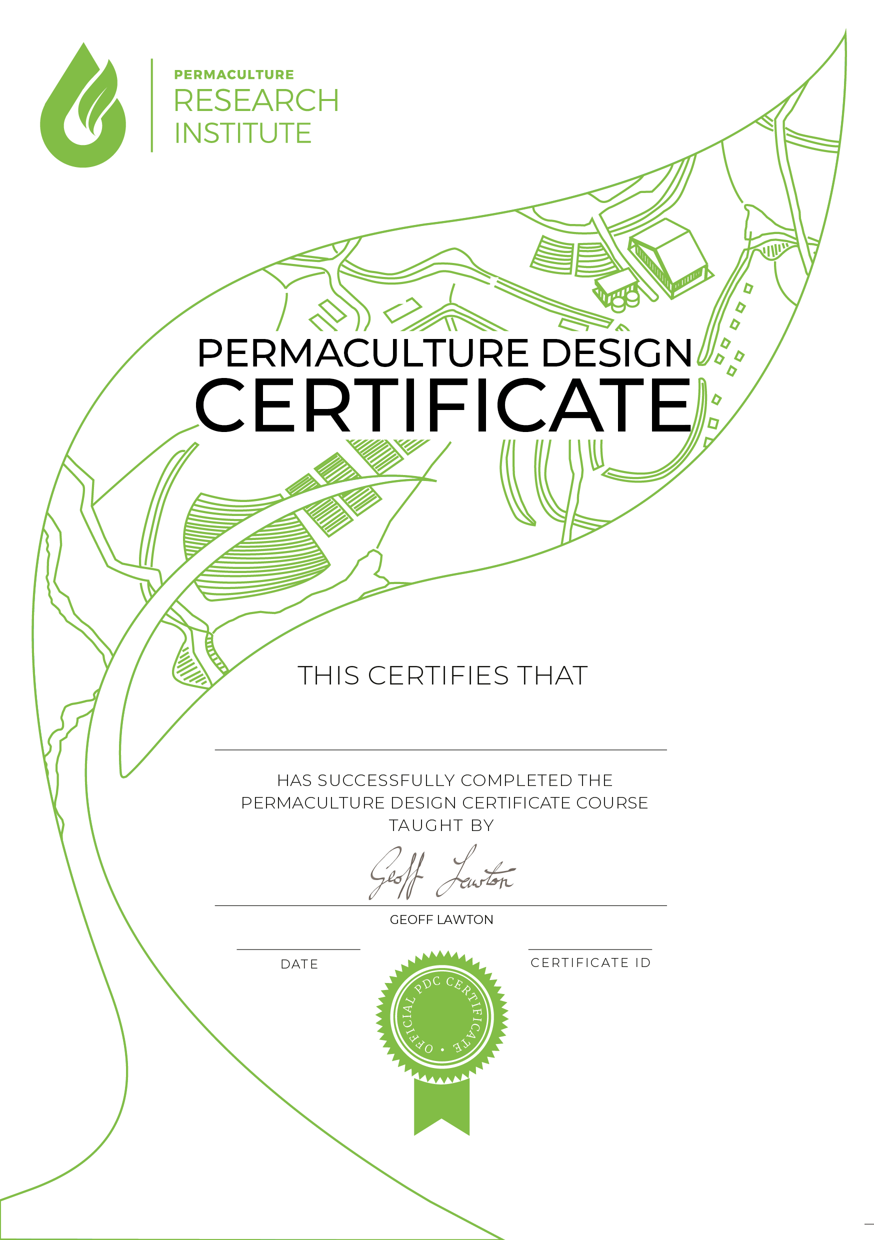 Permaculture Design Certificate Eric Vocke Accredible
