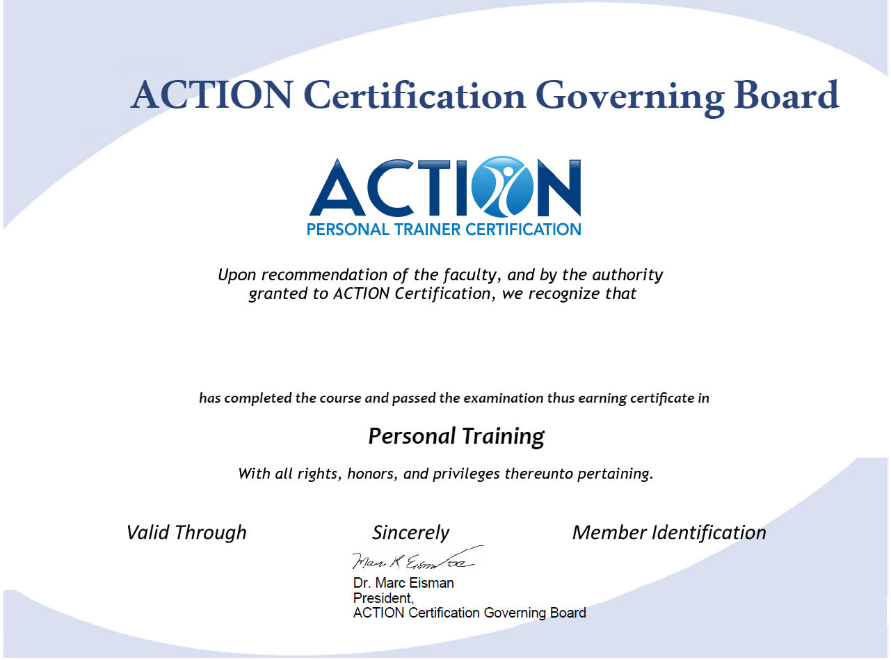 Certified Personal Trainer John Bauer Accredible Certificates