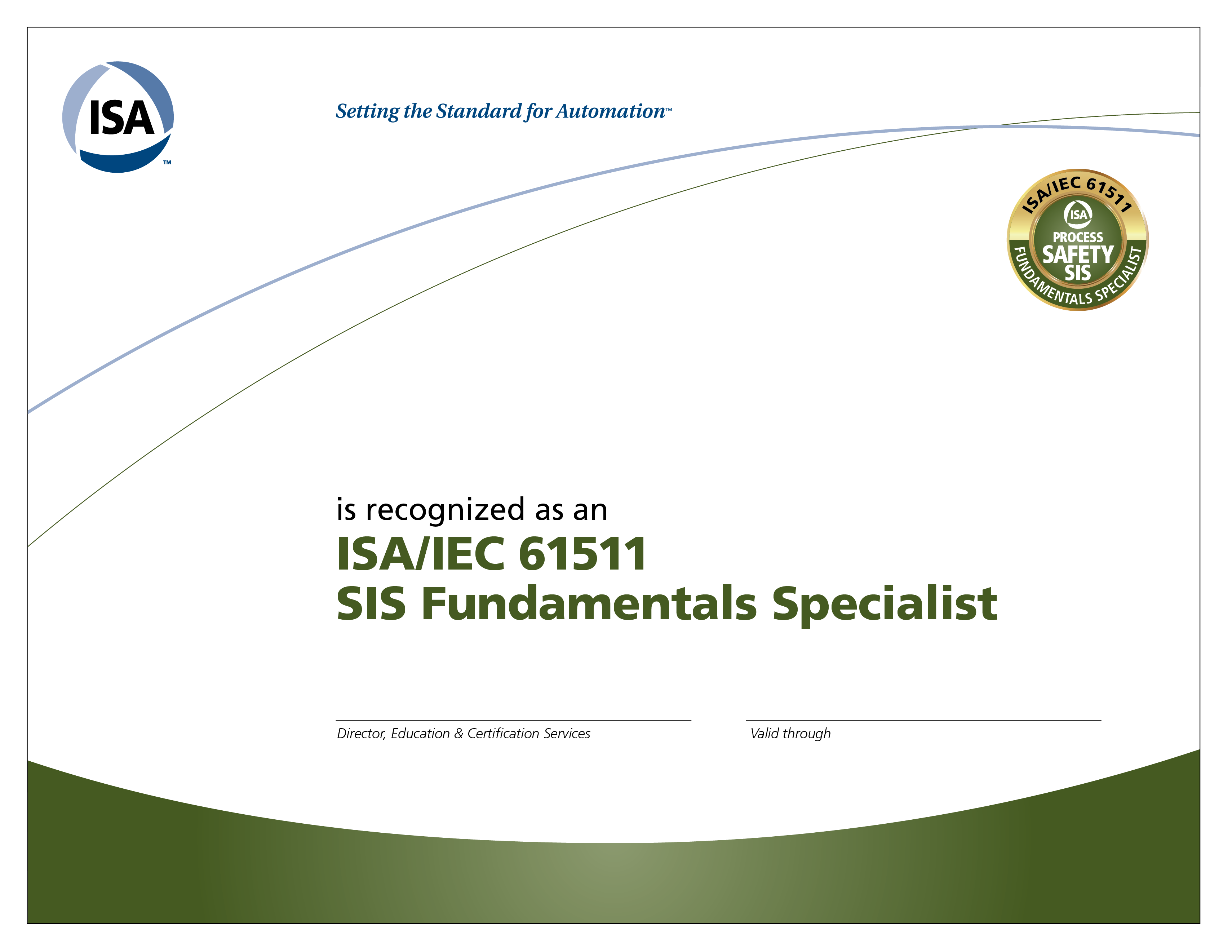 isa certificate sis iec specialist fundamentals blockchain accredible