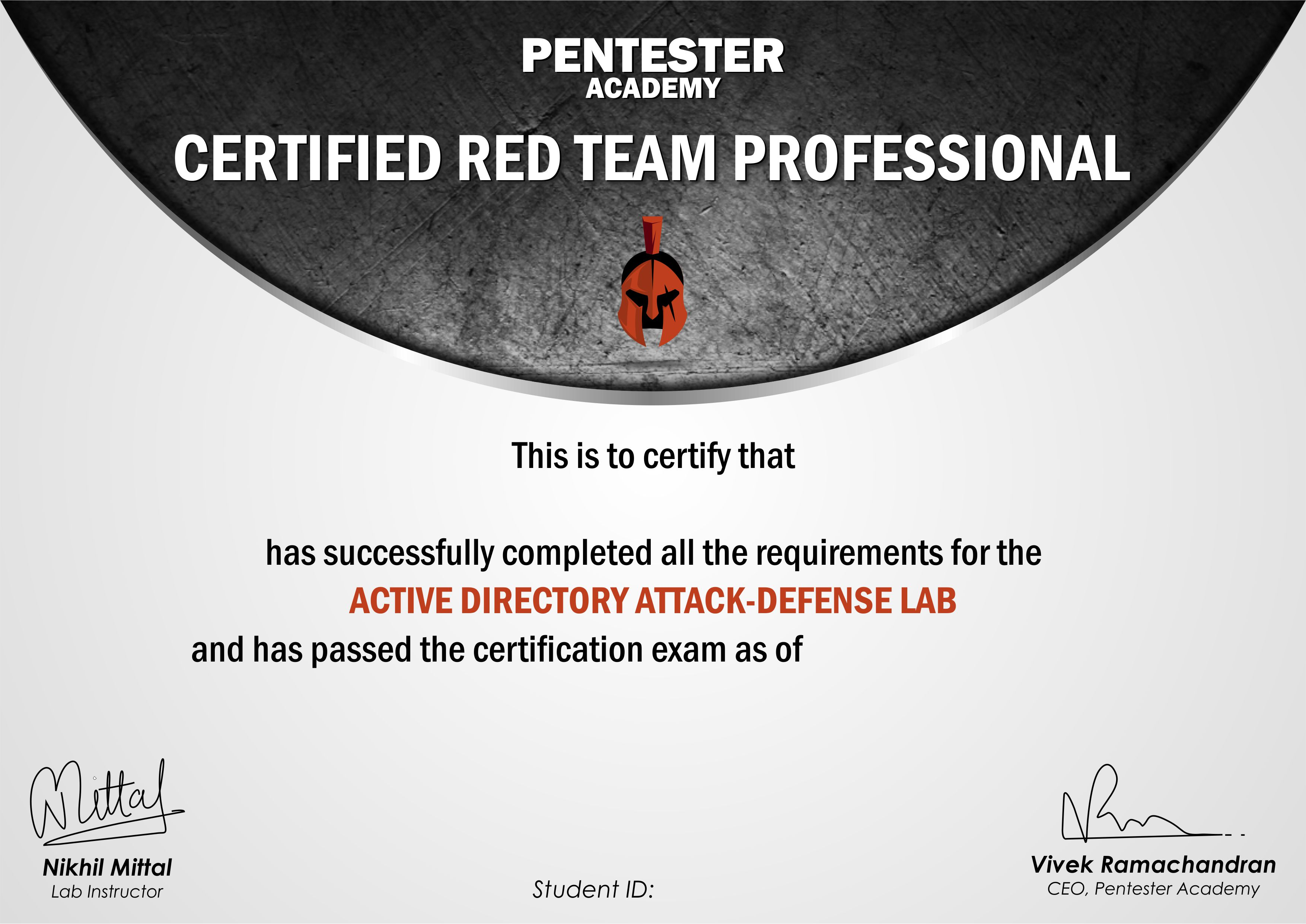 Certified Red Team Professional Crtp
