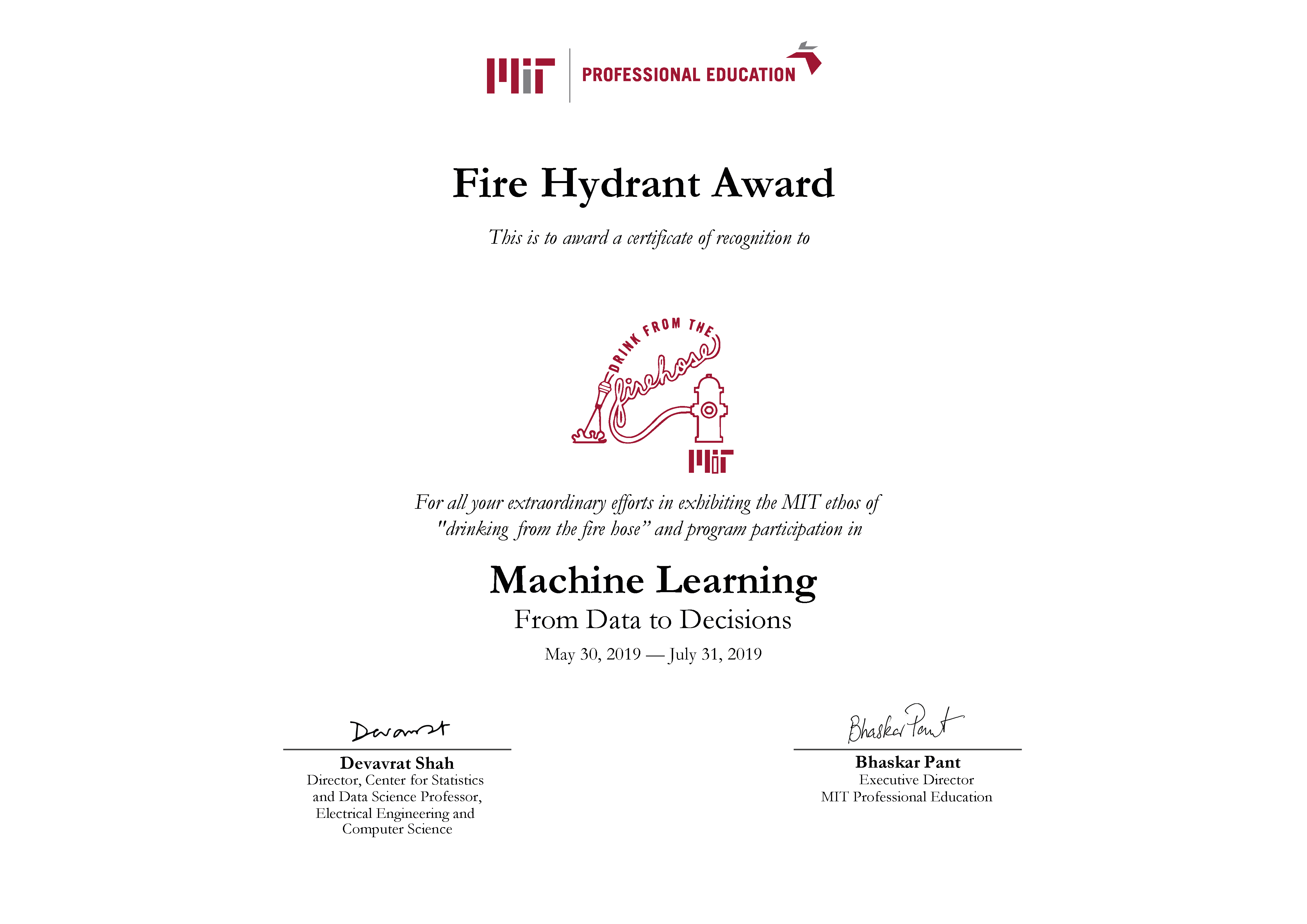 MIT Professional Education : Accredible : Certificates