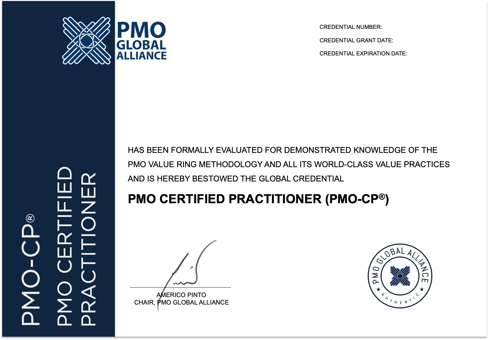 pmo practitioner cp certified september