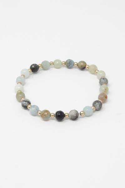 Semi Precious Beads Stretch Bracelet
