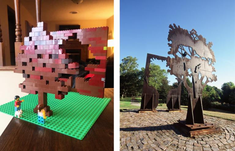 Lego monument tree