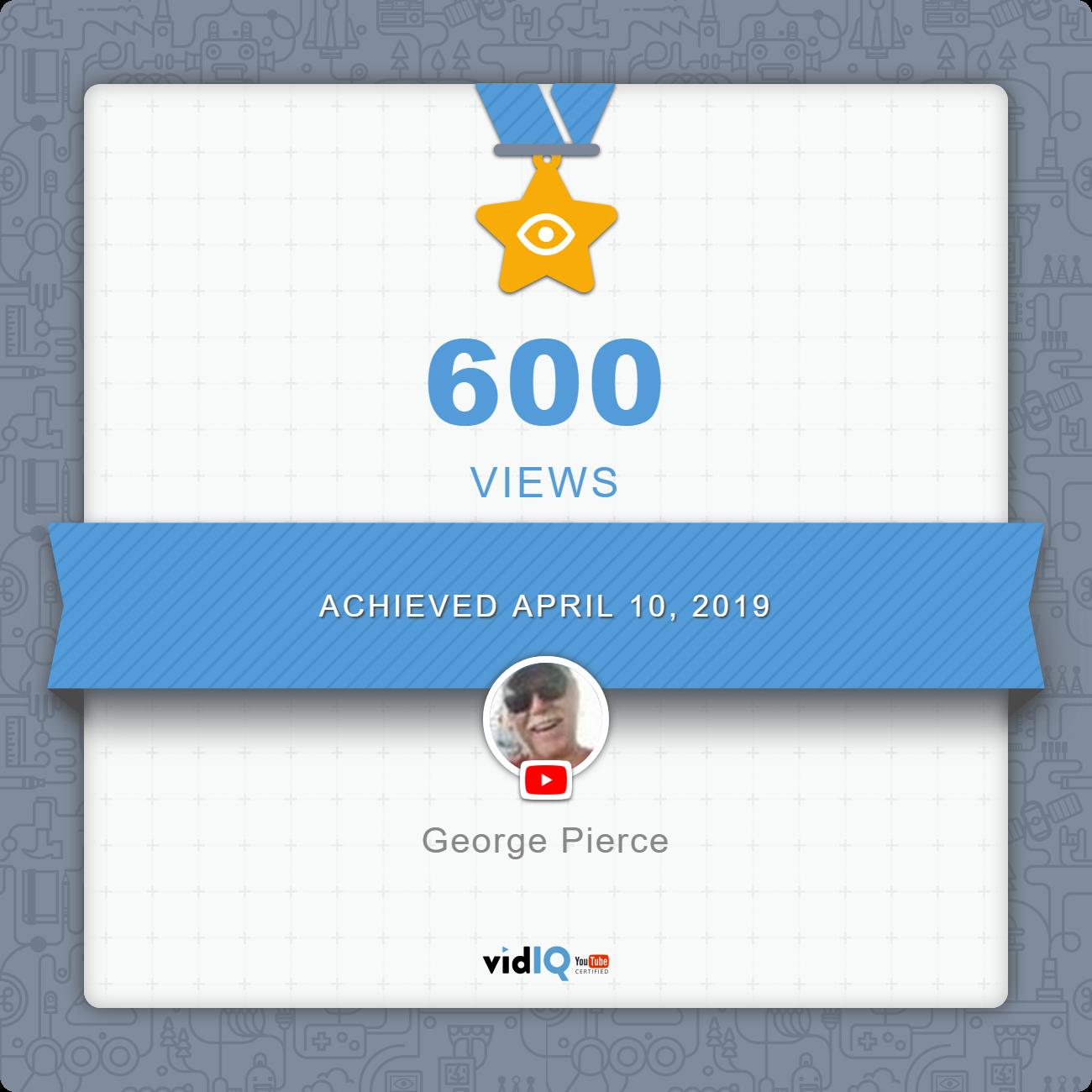 600 views certificate