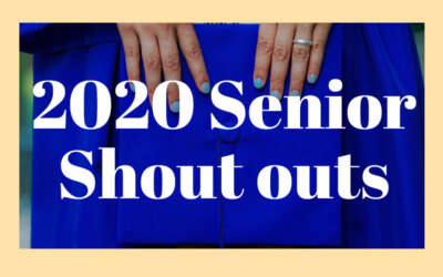 Senior Shoutouts 2020 Blog Image Day 8