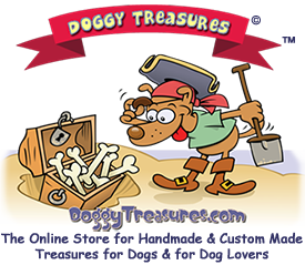 Visit DoggyTreasures.com for great handmade products for dogs