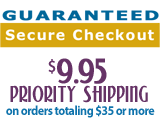 guaranteed secure checkout, free shipping
