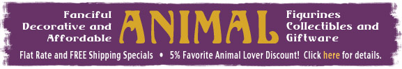 animal lover figurines, collectibles and gifts, discount and free shipping