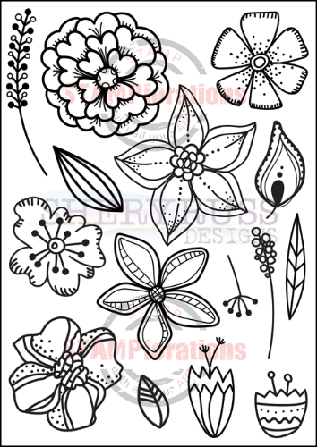 "BLOOM DOODLES 5"" by 7"" Stamp Set"