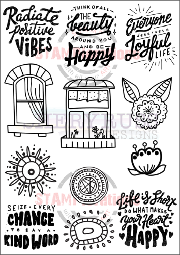 "POSITIVE VIBES 5"" by 7"" Stamp Set"