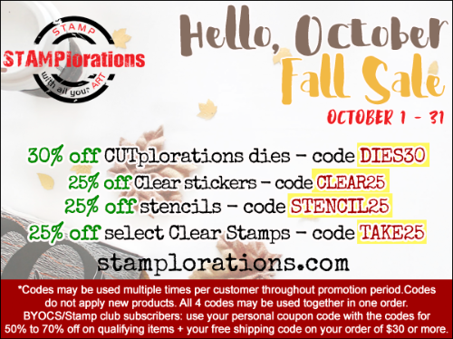 Hello, October Fall Sale!