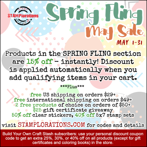 SPRING FLING MAY SALE!