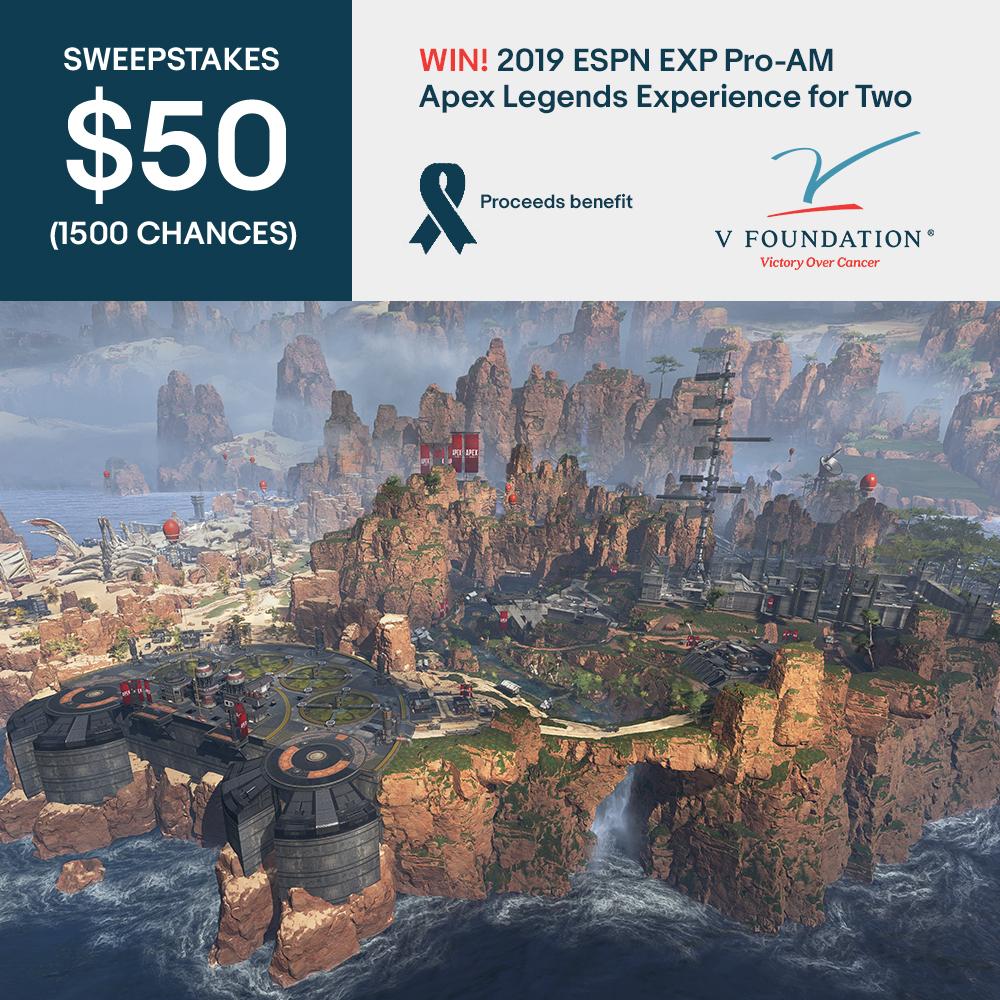 $50 (1500 Chances) Sweepstakes: Win! 2019 ESPN EXP Pro-AM