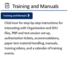 Training and Manuals