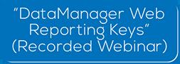 DataManager Web Reporting Keys