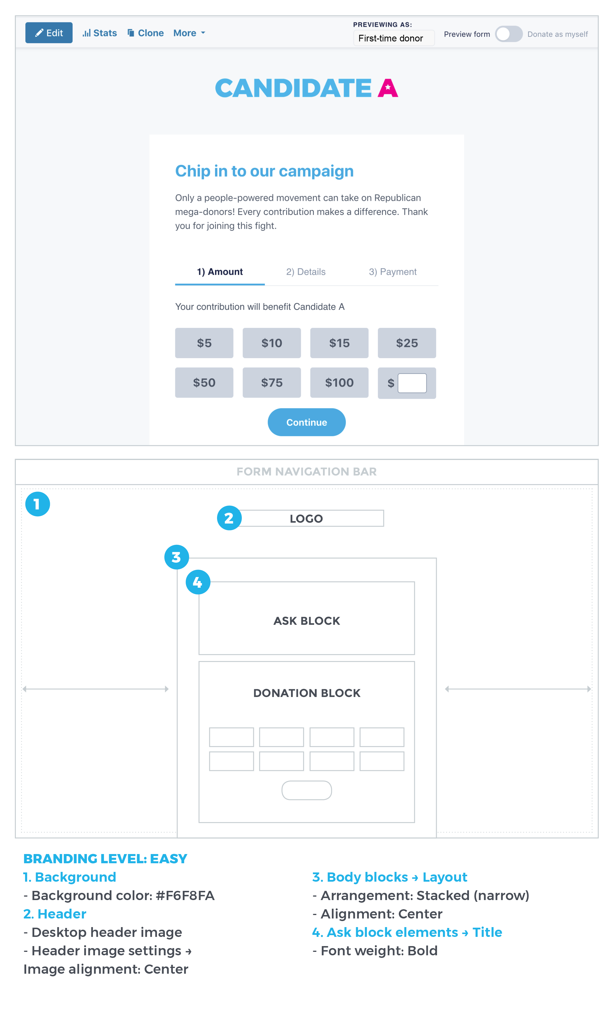 Branding Level: Easy image