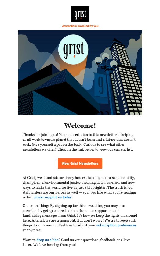 Grist Welcome Email