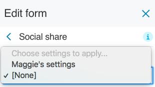 Applied reusable settings 2