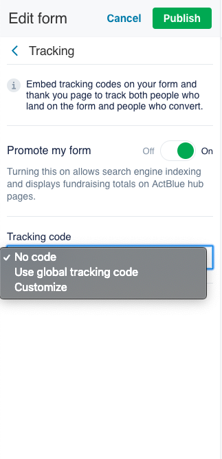 Ad Tracking | ActBlue Support