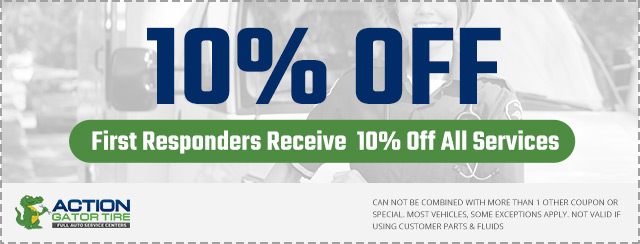 First Responders receive 10% off all services Coupon
