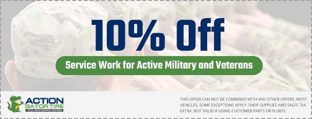 Active Military and Veteran Discount Coupon