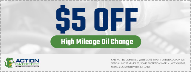 action gator tire oil change discount coupon