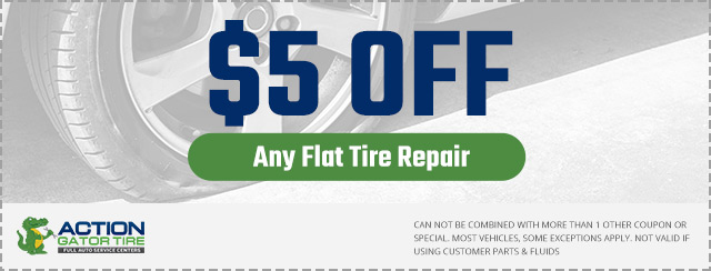 $5 Off Flat Tire Repair Coupon