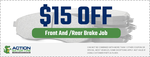 action gator tire front rear brake job coupon